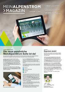 MeinAlpenStrom Magazin 1 2021 Cover